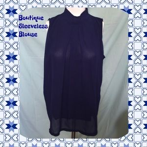 Lovely Navy Boutique sleeveless Blouse